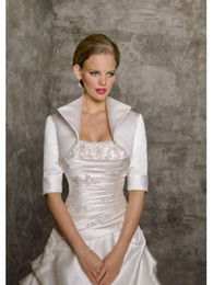 Wholesale 2014 Style Cheapest Taffeta Wedding Bridal Bolero Jackets Half Sleeve Mother Of The Bridal Modest Jacket Wraps High Quality