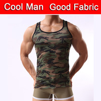 Wholesale MC10 Fashion Of Military Style Camouflage Men Vest Sexy Underwear Camouflage Men s Tank Tops Tight Army Posture