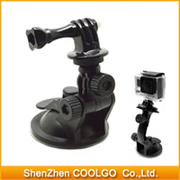 Wholesale 100pieces Gopro CM Diameter Base Mounts Car Suction Cup Adapter Window Glass Camera Tripod Mount for Gopro Hero
