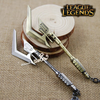 arcade legends - New Arrival LOL Champions The Shadow Of War Arcade Hecarim Weapon League of Legends Zinc Alloy Keychain Game Accessories Key Ring Chain