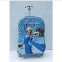 Wholesale 2014 new boys and girls frozen bag spiderman kids luggage travel bag children trolley travel suitcase frozenc217