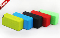 Wholesale Portable Wireless Bluetooth Speaker X3 Calling TF Card FM Line in Function for Smartphone tablet pc MP3 MP4 Player high quality up