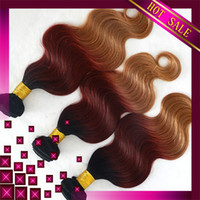 Brazilian Hair Body Wave  Hot Sale 6A Three Tone Ombre Color Virgin Brazilian Body Wave Hair Extensions 1b 33 27 3or4Pcs Remy Natural Human Hair Weave Double Weft