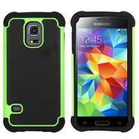 For Samsung Leather  Football 3 in 1 Rugged ballistic Impact Combo PC+silicone Case cover For Samsung Galaxy s3 mini i8190 Galaxy s4 mini i9190 S5 MINI 10PCS LO
