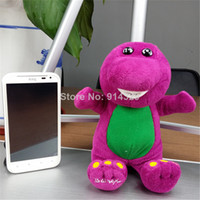 Wholesale OP Cute Barney the Dinosaur Plush Stuffed Toy CM TV Cartoon Soft Dolls Children Baby Kids Birthday Gift Retail pc
