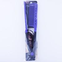 Wholesale DIY Hairdressing Hair Straightener Straighten V Comb