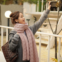 Wholesale Winter fashion wild new Korean unisex long thick knitted wool scarf stroll