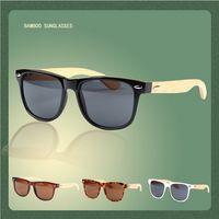 Wholesale Wood Sunglasses Designer Natrual Bamboo Sunglass Eyewear Glasses Style Hand Made Wooden Temples