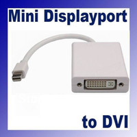 Wholesale 100pcs Thunderbolt Mini DisplayPort Mini Display Port DP to DVI Adapter Converter Cable for apple Macbook Pro Air