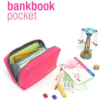 bankbook organizer - OP Canvas Multi functional Clutch Bag Bankbook Pocket Cosmetic Organizer Women Wallets Card Holder colors Availabl