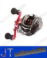 Wholesale 12BB Right Hand Bait Casting Fishing Reel Ball Bearings One way Clutch High Speed Red For Outdoor Fish MYY2136