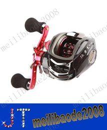12BB 6.3: 1 Right Hand Bait casting Moulinet 10Ball Roulements + embrayage unidirectionnel haut débit Rouge Pour extérieure poisson MYY2136
