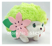 Wholesale OP Japanese Anime Pokemon Shaymin Plush Toy inch Pocket Soft Stuffed Animals Plush Doll Gift