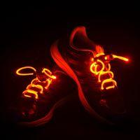 Wholesale Good Christmas Xmas Gift Mode LED Light Up Colorful Shoelaces Flash Glow Strap String Disco