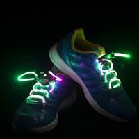 Home LED Shoelace LED shoe laces led HOT Xmas LED Flash Lighting Glow Running Boot Skating Shoelaces Shoe Laces DISCO GIFT,10pairs