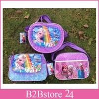 50pcs lot Frozen Lunch Bags Children Frozen Messenger Bags S...