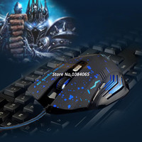 Wholesale New Arrival DPI Button LED Optical USB Wired Gaming Mouse Mice computer mouse For PC Gamer SV004160