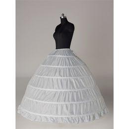 2019 Hot Sales In Stock 6 Hoops Bridal Petticoats For Ball Gown Wedding Dress Cascading Ruffles Fabric Underskirt Waist Adjustable