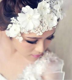 Wholesale 2014 New Bridal Headpieces Bridal Hair Flower Hair Flower Pearl Bridal Head Flower Headdress Wedding Tiaras
