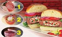Wholesale 1 latest Stufz Stuffed hamburger press kitchen meat and poultry tools burger press meat hamburger machine
