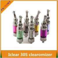 Metal Iclear 30S cleartomizer  IClear 30s Atomizer Dual Coil Itaste Nest Clearomizer Replaceable Coil Innokin Clearomizer iClear16 iclear30 for E Cigarette ego t Battery