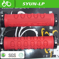Wholesale Darboma holy shits pairs cool design MTB fixed gear DH BMX DARBOM skull pattern lock ring rubber bicycle grips