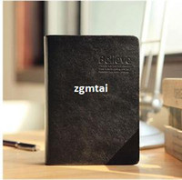 Wholesale Black Leather bound Biblia Style Notebook Diary Book Thick Doodles Notebook P E701