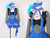 Unisex adult halloween books - 2014 New Black Butler III Kuroshitsuji Book of Circus Ciel Cosplay costume Anime Ver For Adult Child