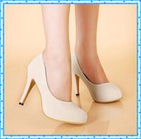 Wholesale low heel wedding shoes women shoes new platform pumps sexy low heels fashion patent leather heel elegant pumps women black nude C285
