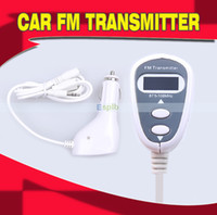 Wholesale Car FM Transmitter Handsfree Car kit LCD Display screen Transmitter Car Charger for iphone ipad ipod Samsung