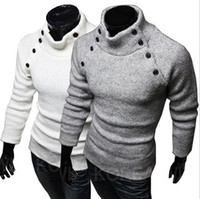 men knitted sweaters - Men sweater fashion cotton sweaters turtleneck sweater knitting mens sweaters pullover men apparel l