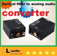 Wholesale Audio converter Digital Optical Coax Toslink to Analog Audio Converter adapters
