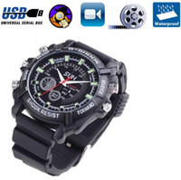 Wholesale Spy Camera Watch IR Night Vision HD GB P Weatherproof Hidden HD Mini DVR Digital Video Camcorderr COMS