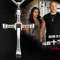 Wholesale dropshiping men jewelry gifts The Fast and the Furious Toretto cross necklace fashion long necklaces