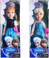 Wholesale 48cm NEW Frozen music Princess Elsa and Anna Toddler Doll Olaf Sven Frozen A32