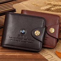 Wholesale European and American style men designer leather purse wallet high quality money car loge wallets for men
