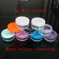 Wholesale 3g colored empty bottles cosmetic containers lip balm containers lip gloss container cc ml makeup bottles pc