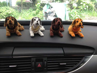 Wholesale Cute Dogs Doll Car Ornament Interior Accessories Nodding Dogs Moving Head Dogs Car Interior Decoration Articles
