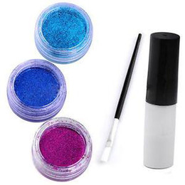 Wholesale Body Art Shimmer Glitter Powders Kit Tattoos Stencils Brushes Glues Kits Tool E701