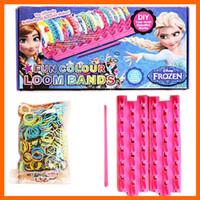 Frozen Fun colourful loom bands DIY bracelets rubber rainbow...