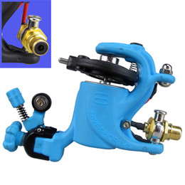 Wholesale Blue Color Swashdrive Gen Rotary Tattoo Machine Gun both for Shader Liner suit to Tattoo Power supply Needles Tips Grips Ink Cups Kits