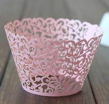 24pcs lot free shipping Pink Little Vine cupcake wrapper muffin Cup Cake wrapper wrap liner case decoration