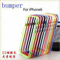 Wholesale For iphone plus Dual Colors Metal Button TPU PC Transparent Bumper Case for iPhone quot iphone S With Retail Package