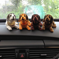 Wholesale New Cute Dogs Car Ornament Interior Accessories Nodding Dogs Moving Head Dogs Car Interior Decoration Articles By DHL