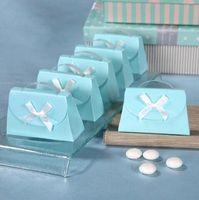 Blue aqua favor boxes - Fashion Candy Box Aqua Blue Purse Shaped Favour Candy Boxes