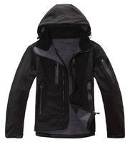 Men Hooded Long Sleeve 2014 New Winter Autumn Outdoor Sportswear Brand Softshell Jacket Men Hoodies Waterproof Windproof Outerwear Windstopper Jackets