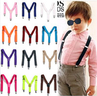 Wholesale Clip on Adjustable Chidren Black Braces Suspenders High quality Y Back Style Suspenders Colors Available CD12001