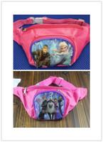 Wholesale Pre order Froze Children Cartoon Waist Bags Snow Queen Kids Study Supplier Storage Bag Children High Quality Elsa Haversack H0883