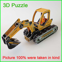 Building   Hot Sale 3D Puzzle Kids Educational Toys Children Adult DIY 3D Jigsaw Puzzle Free Shipping By DHL