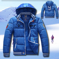 Jackets Breathable Men Brand New Arrival Men's Outdoor Sports Skiing Parkas Jackets Cotton-padded Hooded Thick Coat Warm Down